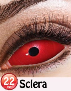 Red Sclera 22 mm Heltäckande Linser